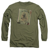 Harry Potter Beedle The Bard Adult Long Sleeve T-Shirt Military Green