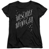 Harry Potter Mischief Managed 4 Women's T-Shirt Black