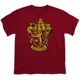Harry Potter Gryffindor Crest Youth T-Shirt Cardinal