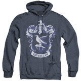 Harry Potter Ravenclaw Crest Adult Heather Hoodie Sweatshirt Navy