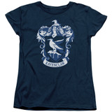 Harry Potter Ravenclaw Crest Women's T-Shirt Navy