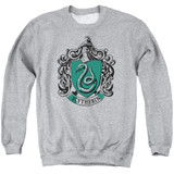 Harry Potter Slytherin Crest Adult Crewneck Sweatshirt Athletic Heather