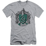 Harry Potter Slytherin Crest Adult 30/1 T-Shirt Athletic Heather