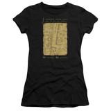 Harry Potter Marauders Map Interior Words Junior Women's T-Shirt Black