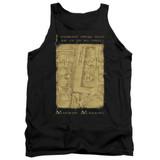 Harry Potter Marauders Map Interior Words Adult Tank Top T-Shirt Black