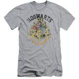 Harry Potter Hogwarts Crest Adult 30/1 T-Shirt Athletic Heather