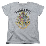 Harry Potter Hogwarts Crest Women's T-Shirt Athletic Heather