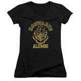 Harry Potter Hogwarts Alumni Junior Women's V-Neck T-Shirt Black