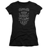 Harry Potter Happiness Junior Women's T-Shirt Black