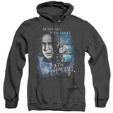 Harry Potter Always Adult Heather Hoodie Sweatshirt Black