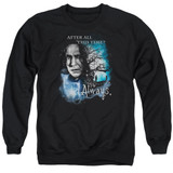 Harry Potter Always Adult Crewneck Sweatshirt Black