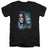Harry Potter Always Adult V-Neck T-Shirt 30/1 Black