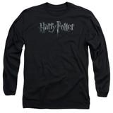 Harry Potter Logo Adult Long Sleeve T-Shirt Black