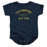 Star Trek Enterprise Athletic Baby Onesie T-Shirt Navy