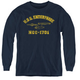 Star Trek Enterprise Athletic Youth Long Sleeve T-Shirt Navy