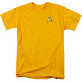 Star Trek Command Uniform Adult 18/1 T-Shirt Gold