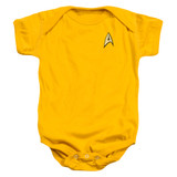 Star Trek Command Uniform Baby Onesie T-Shirt Gold