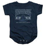 Star Trek Starfleet Academy Earth Baby Onesie T-Shirt Navy