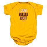 Star Trek Boldly Went Baby Onesie T-Shirt Gold