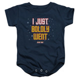 Star Trek Boldly Went Baby Onesie T-Shirt Navy