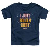 Star Trek Boldly Went Toddler T-Shirt Navy