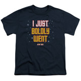 Star Trek Boldly Went Youth T-Shirt Navy