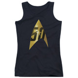 Star Trek 50th Anniversary Delta Junior Women's Tank Top T-Shirt Black