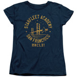 Star Trek Collegiate Bridge Women's T-Shirt Navy