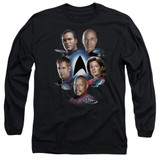 Star Trek Starfleet's Finest Adult Long Sleeve T-Shirt Black