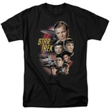 Star Trek Original The Classic Crew Adult 18/1 T-Shirt Black