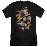 Star Trek Original The Classic Crew Adult 30/1 T-Shirt Black