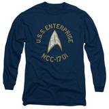 Star Trek Collegiate Adult Long Sleeve T-Shirt Navy