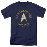 Star Trek Collegiate Adult 18/1 T-Shirtnavy