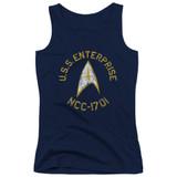 Star Trek Collegiate Junior Women's Tank Top T-Shirt Navy