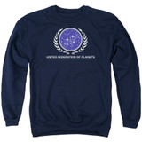 Star Trek United Federation Logo Adult Crewneck Sweatshirt Navy