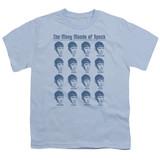 Star Trek Many Moods Of Spock Youth T-Shirt Carolina Blue