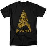 Star Trek Delta Crew Adult 18/1 T-Shirtblack