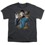 Star Trek Space Prosper Youth T-Shirt Charcoal
