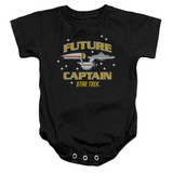 Star Trek Future Captain Baby Onesie T-Shirt Black
