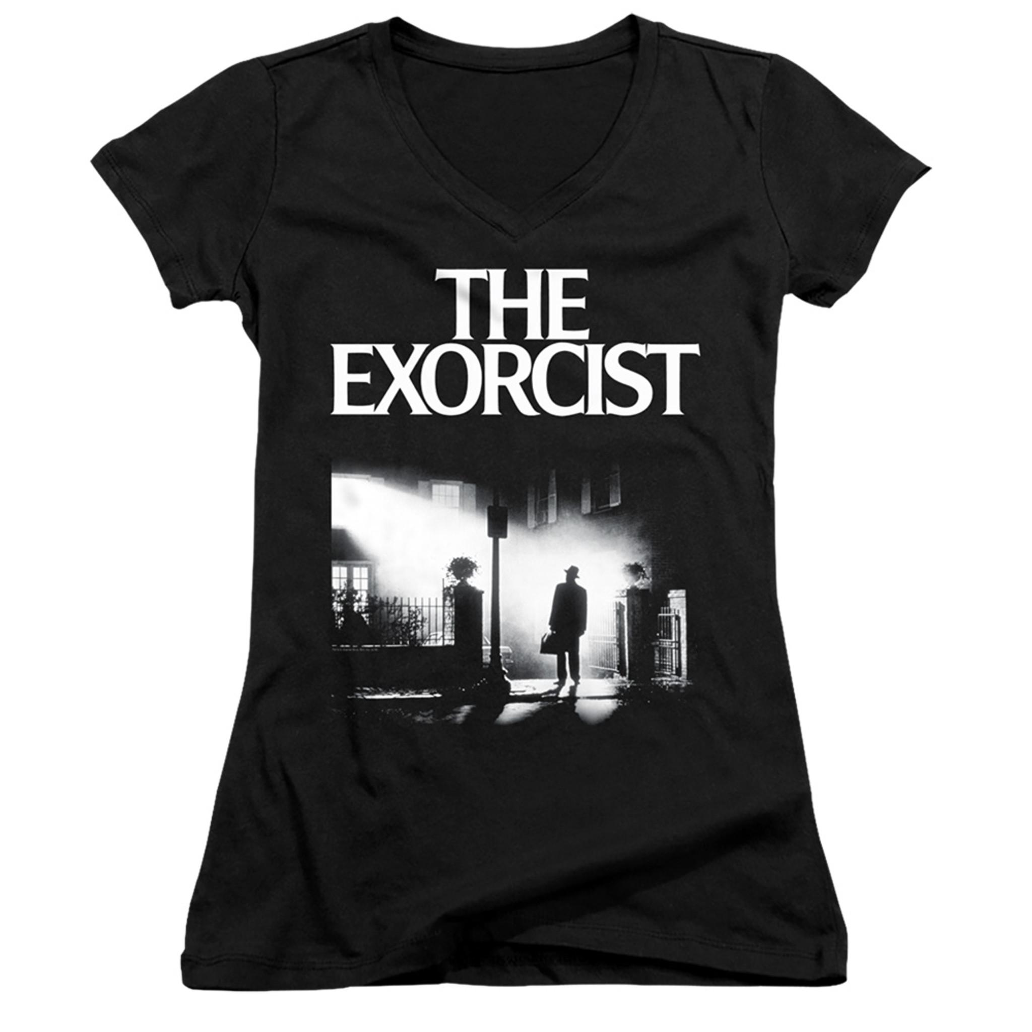 The Exorcist Poster Junior V-Neck T-Shirt