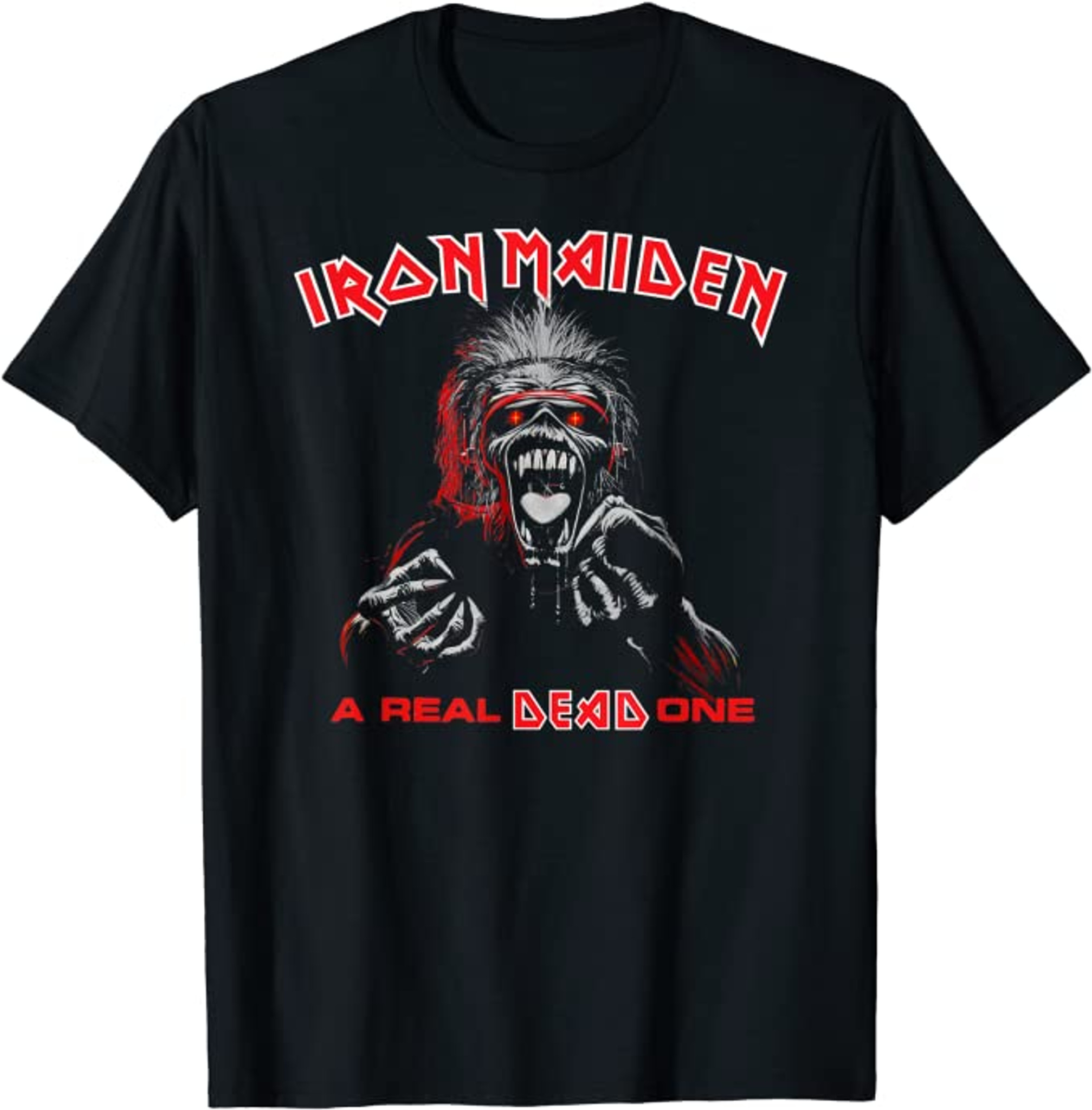 IRON MAIDEN Real Dead One Mens T Shirt Unisex Tee Official Licensed Band Merch