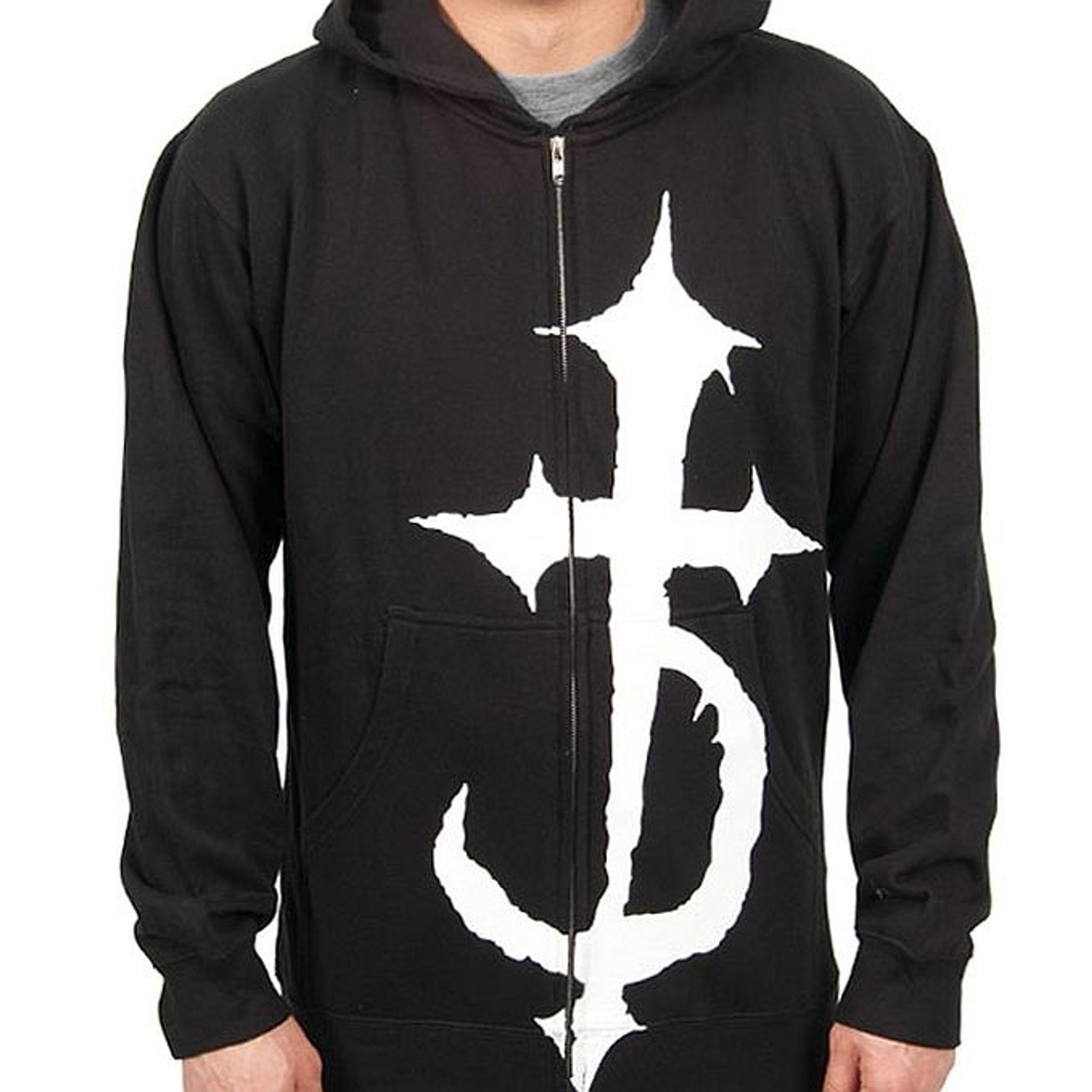 Five Finger Death Punch Iron Cross Slipknot Matel Cross Hooded Sweatshirt For Men Black