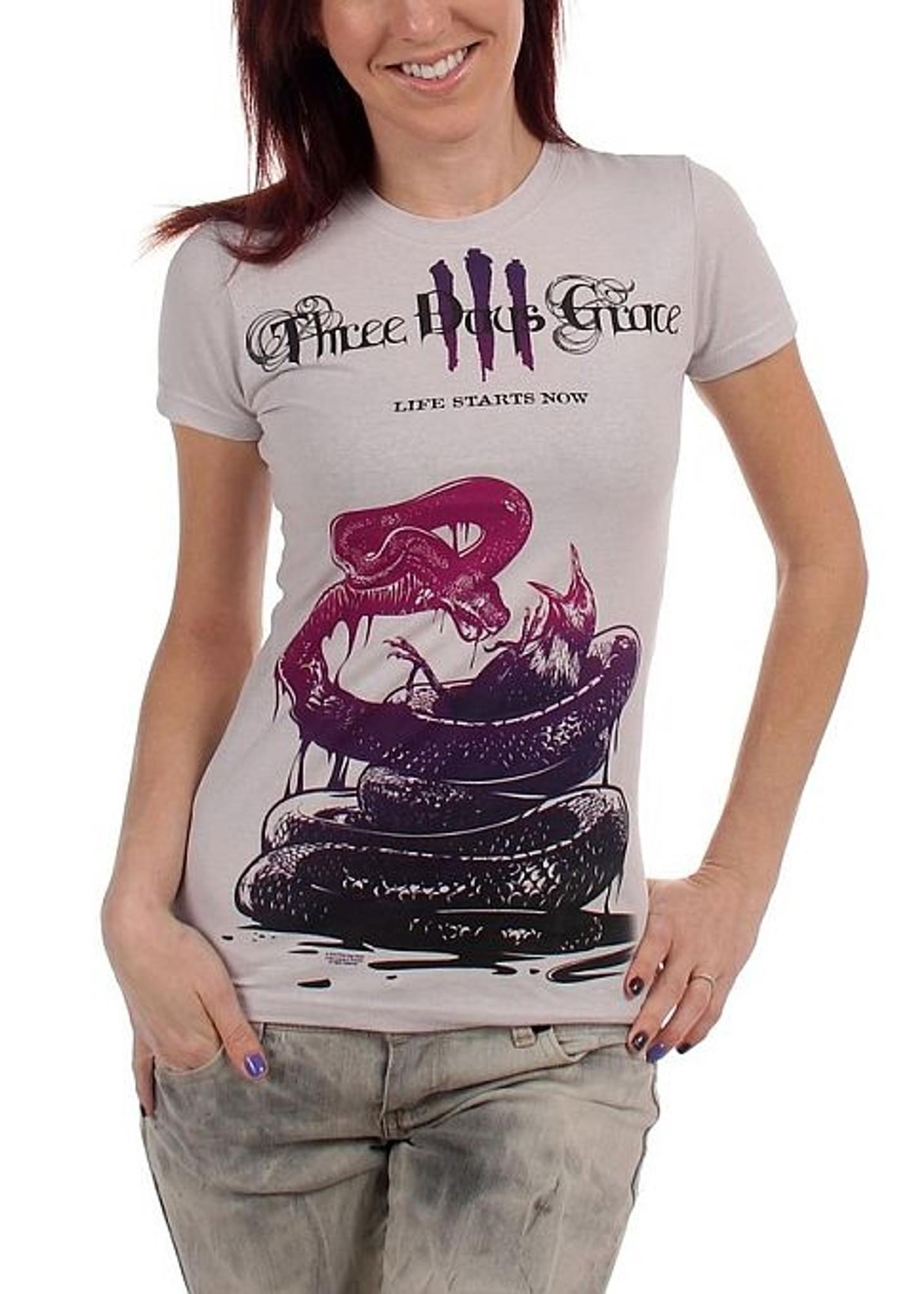 CBGB Snakes Navy Junior Women/'s T-Shirt