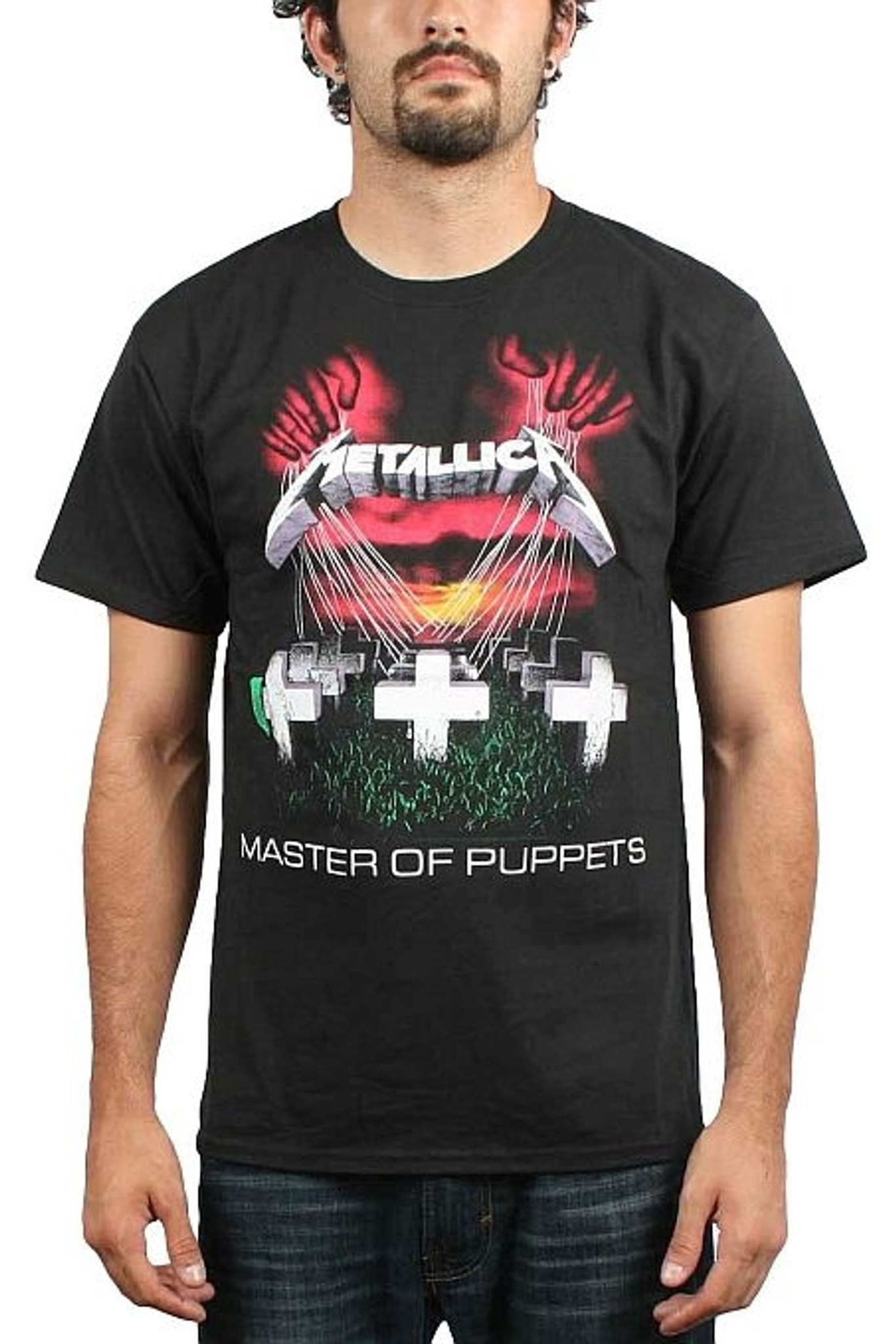 METALLICA Master Of Puppets Tracks T-Shirt All Sizes NEW /& OFFICIAL 2-sided