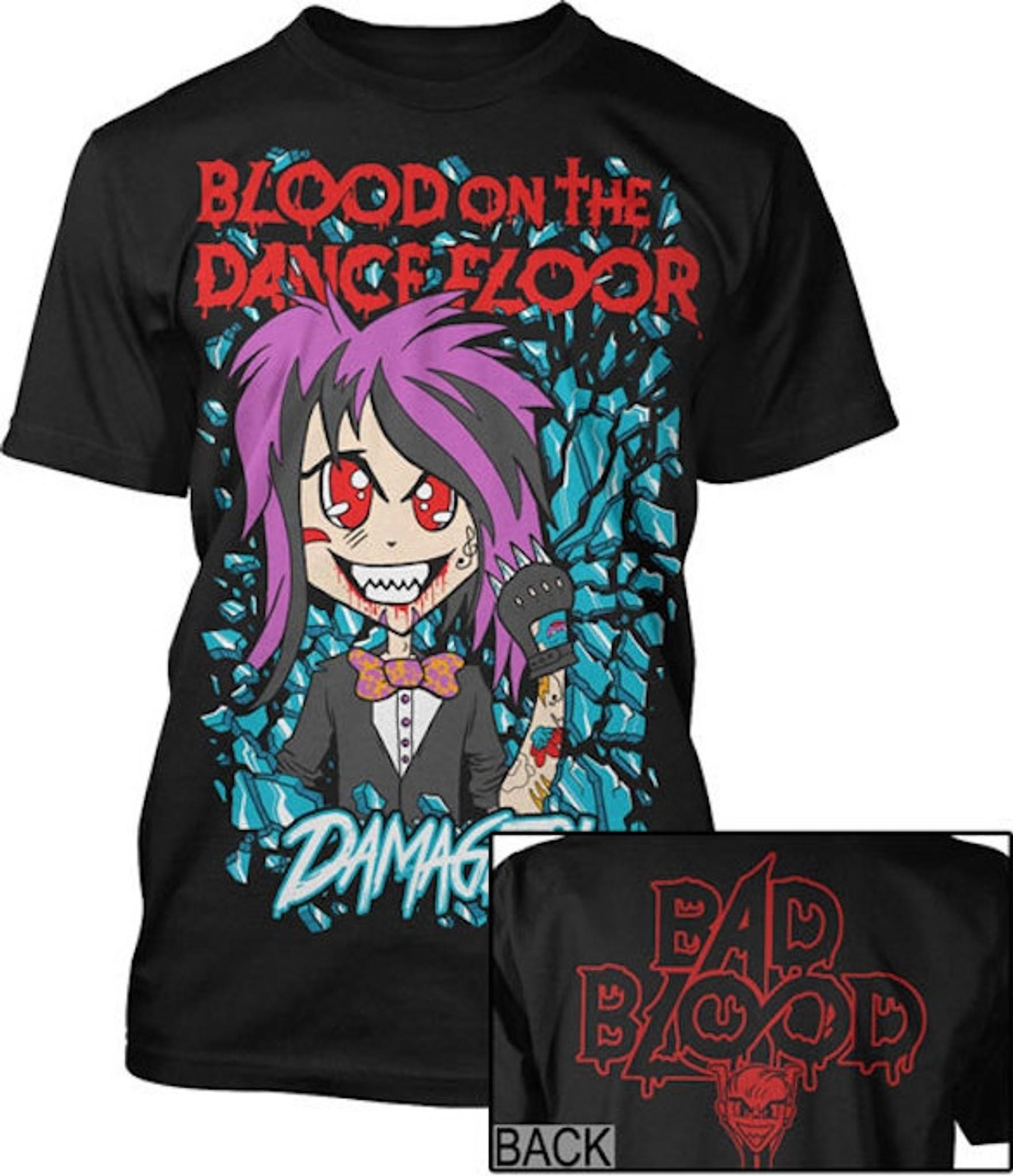 Blood On The Dance Floor Damaged T Shirt