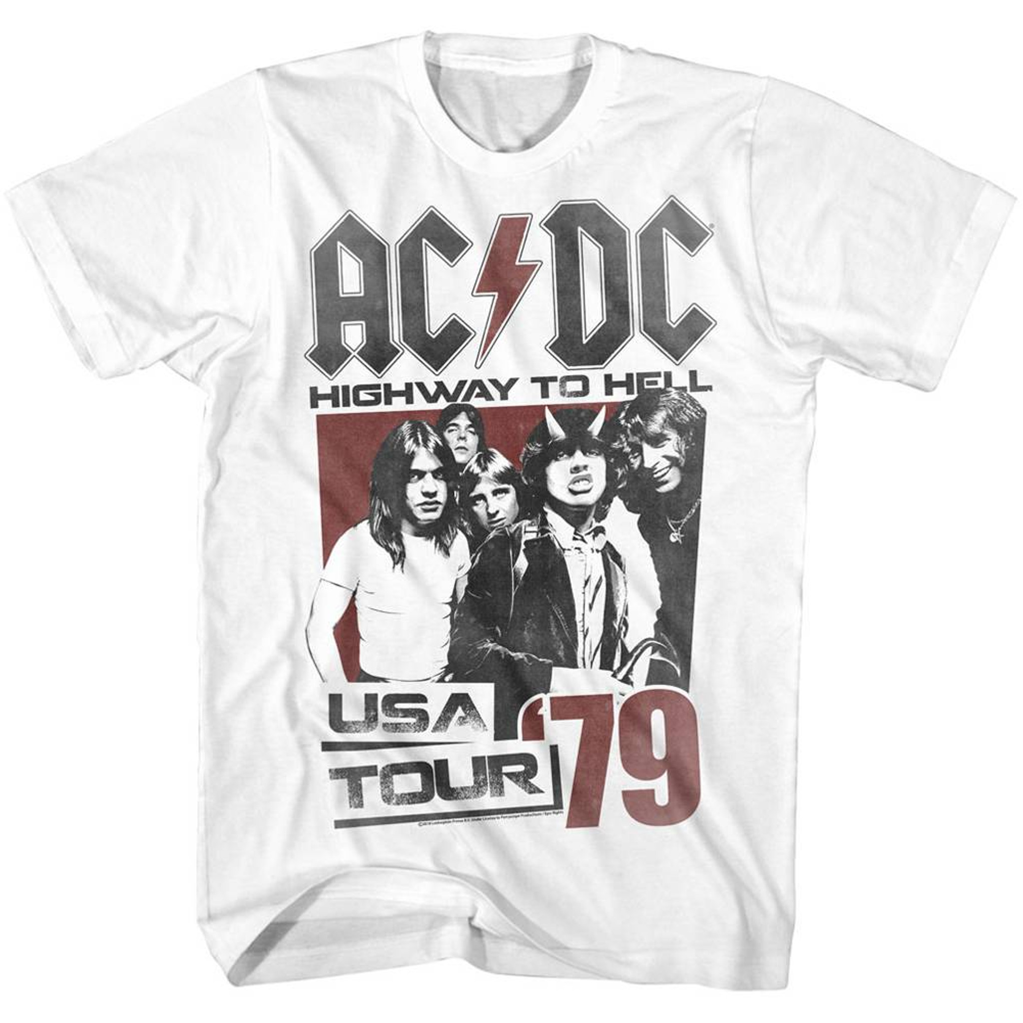 AC/DC Highway To Hell Tour White Adult T-Shirt