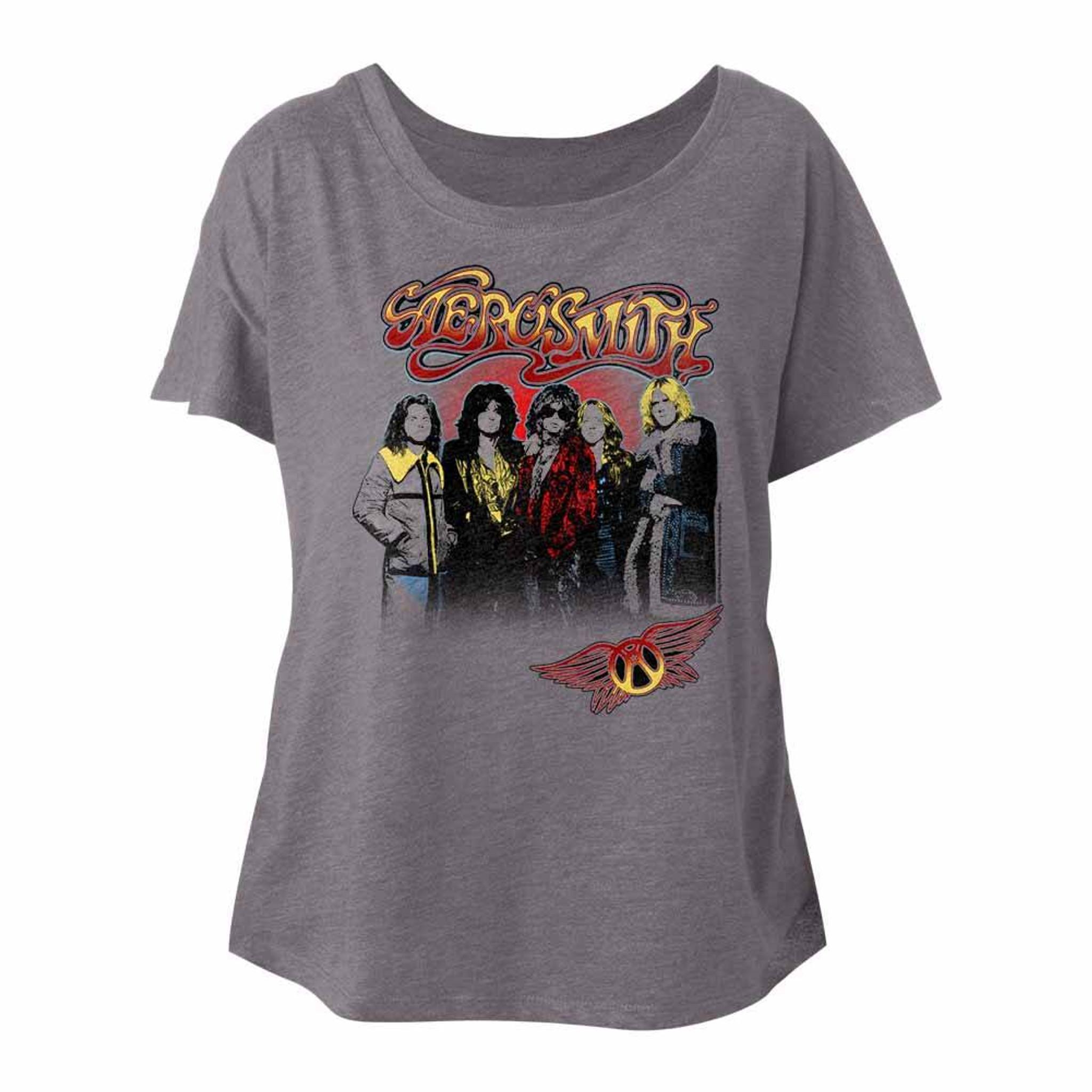 Aerosmith Band Logo Womans Dolman T Shirt Rock Music