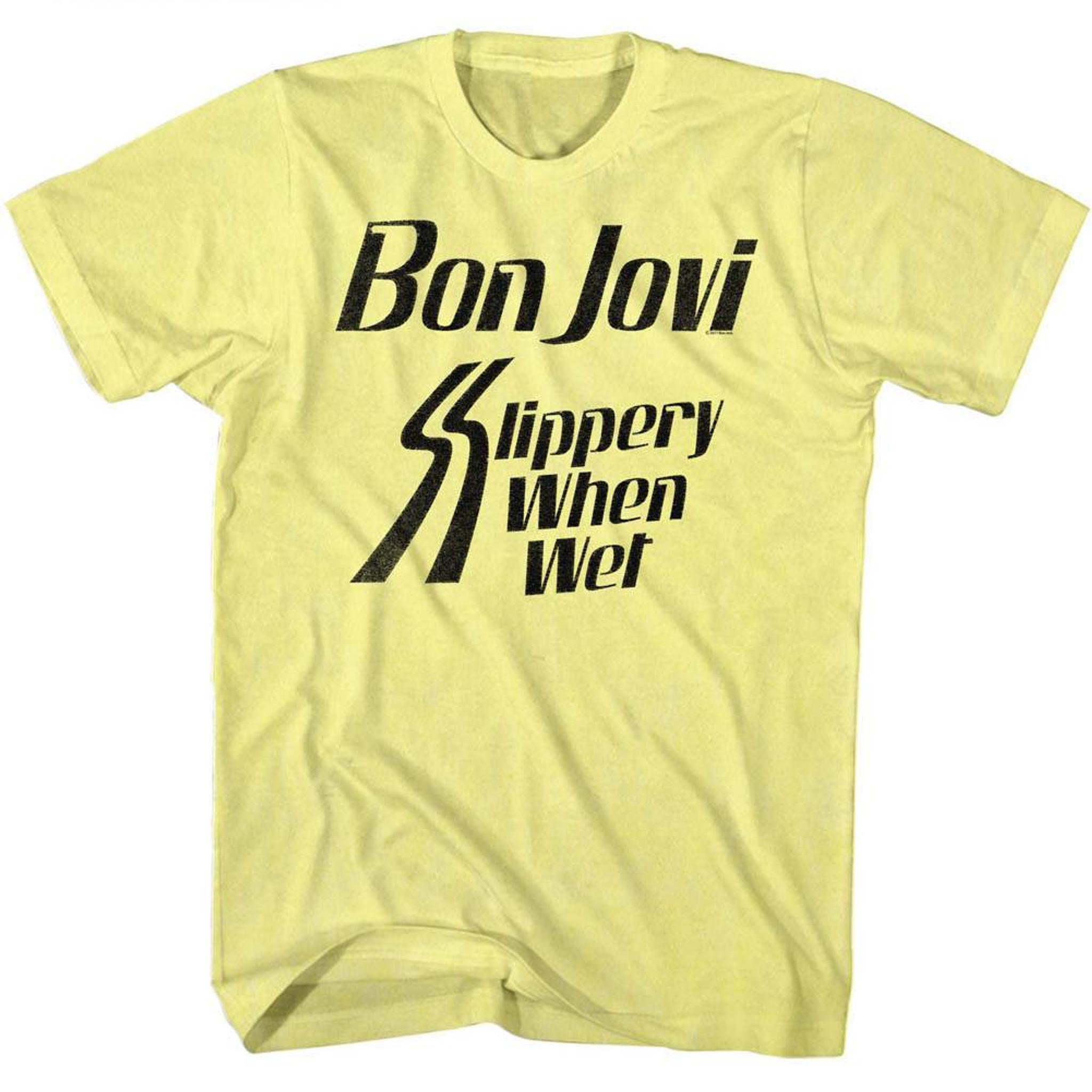 Slippery Yellow Bon Camiseta Jovi When Adult Heather Wet dCxoerB