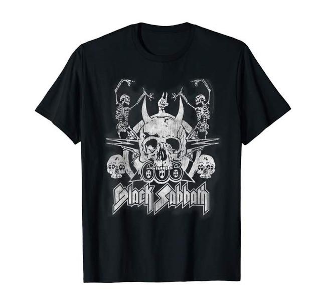 Black Sabbath Official Vintage Dancing Skeletons T-Shirt