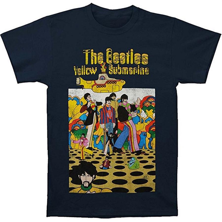 The Beatles Yellow Submarine Men's Navy T-Shirt